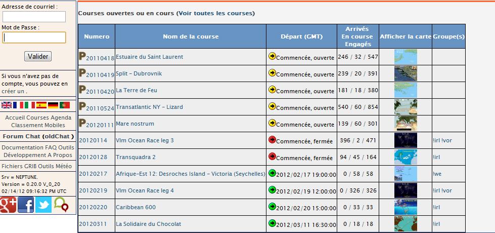 Berühmt Liste des courses actuelles — VlmWiki TU69